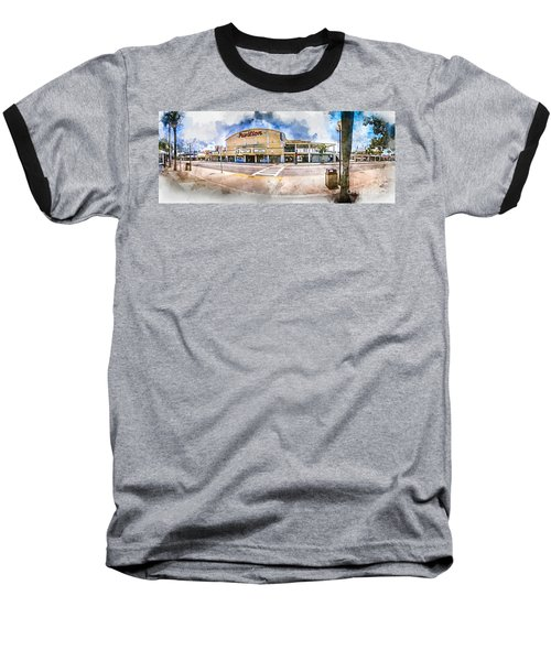The Myrtle Beach Pavilion - Watercolor Baseball T-Shirt