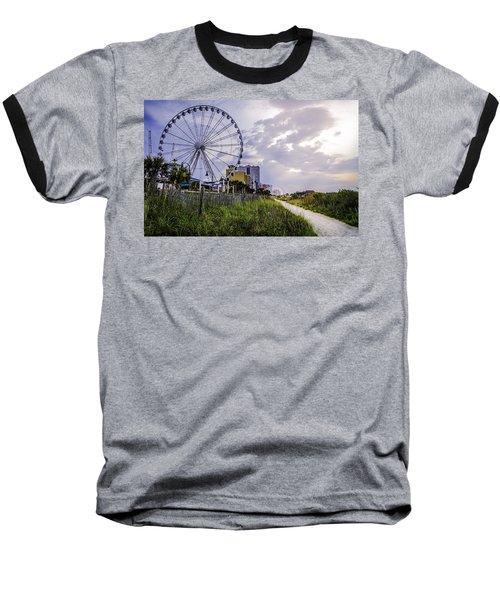 The Myrtle Beach, South Carolina Skywheel At Sunrise. Baseball T-Shirt