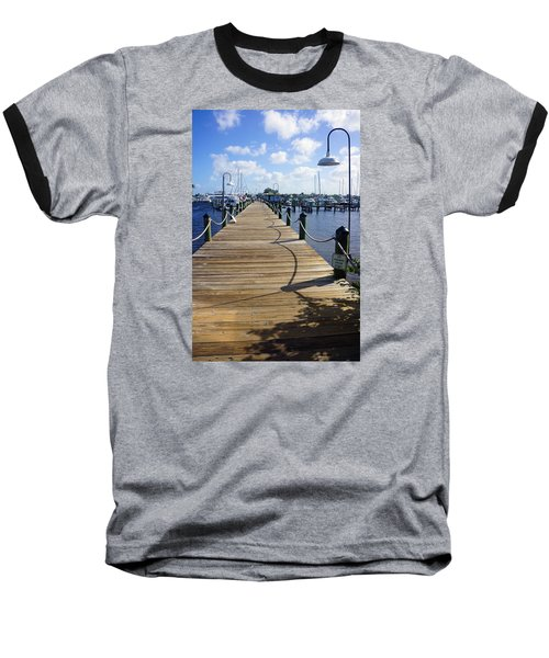 Baseball T-Shirt featuring the photograph The Naples City Dock by Robb Stan
