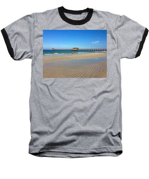 The Naples Pier At Low Tide Baseball T-Shirt