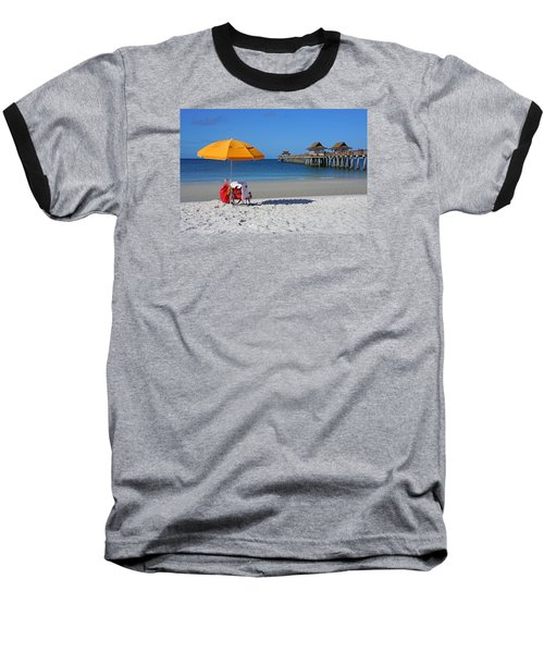 Baseball T-Shirt featuring the photograph The Naples Pier by Robb Stan