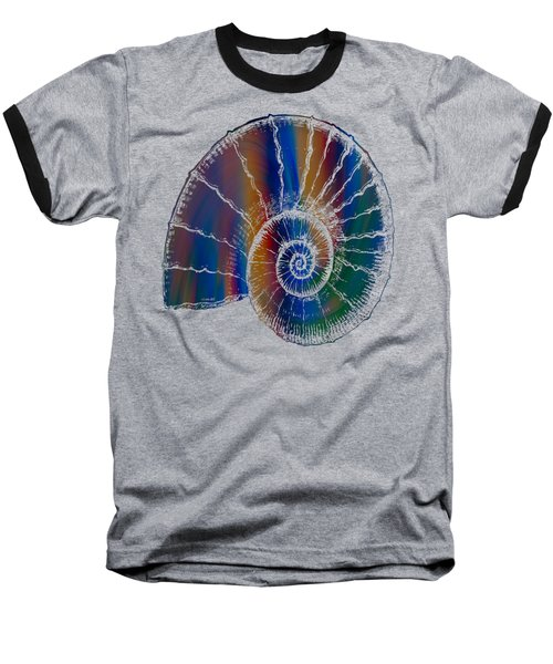 The Nautilus Shell Transparent 2 Baseball T-Shirt