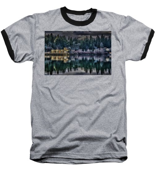 The Navy Base P1 Baseball T-Shirt by Timothy Latta
