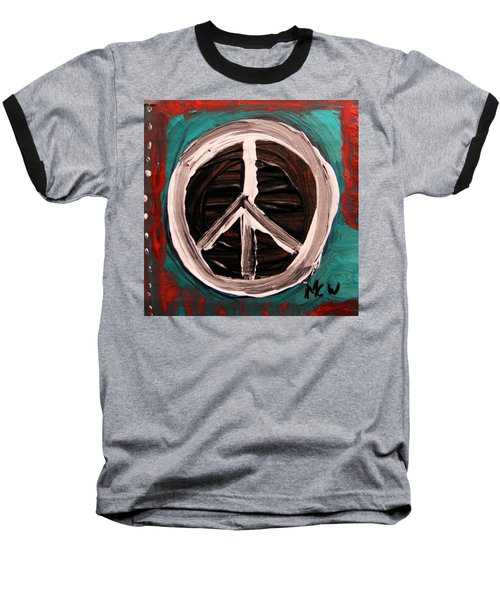 Baseball T-Shirt featuring the painting The Need Continues by Mary Carol Williams