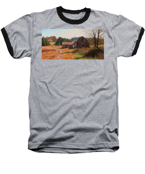 The Neighbor's Barn Baseball T-Shirt by Bonnie Mason
