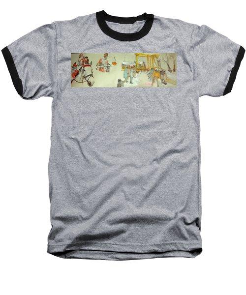 the Netherlands scroll Baseball T-Shirt by Debbi Saccomanno Chan