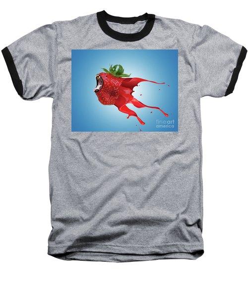 Baseball T-Shirt featuring the photograph The New Gmo Strawberry by Juli Scalzi