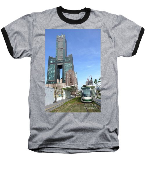 Baseball T-Shirt featuring the photograph The New Kaohsiung Light Rail Train by Yali Shi