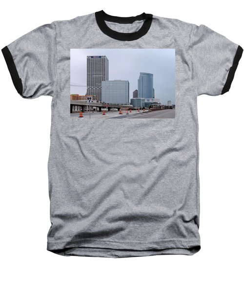 The New Milwaukee Skyline Baseball T-Shirt by Randy Scherkenbach