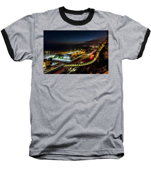 The New P C H Overpass - Night Baseball T-Shirt
