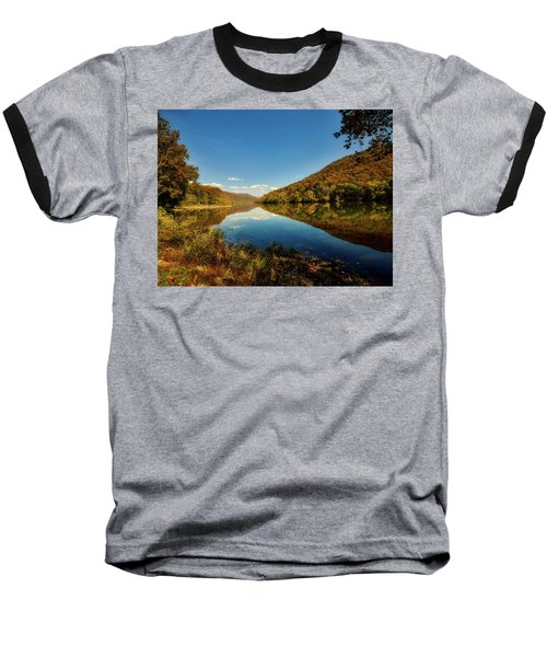 The New River In Autumn Baseball T-Shirt by L O C