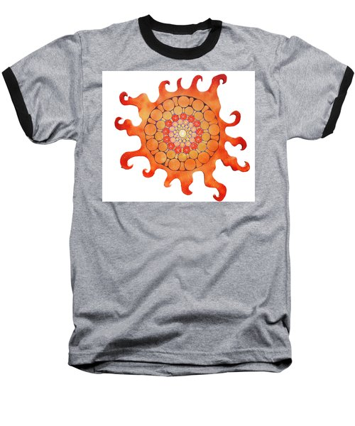 Baseball T-Shirt featuring the painting The New Sun by Patricia Arroyo