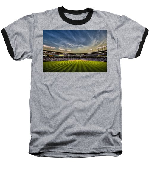 The New Wrigley Field With Pretty Sunset Sky Baseball T-Shirt