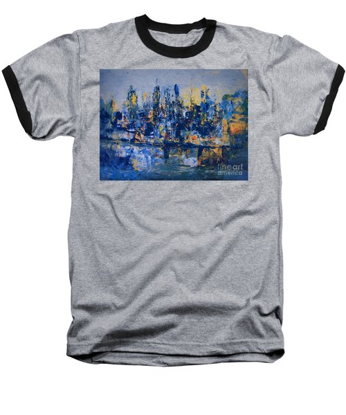 The Night City Baseball T-Shirt by Nancy Kane Chapman