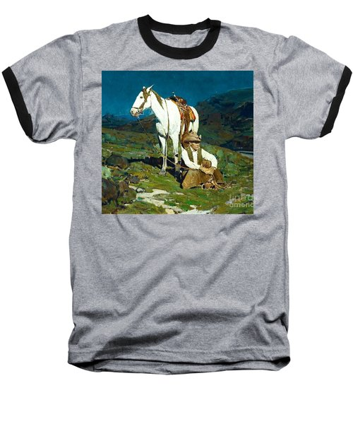 Baseball T-Shirt featuring the painting The Night Hawk by Pg Reproductions