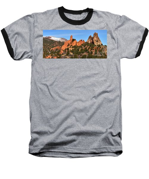 Baseball T-Shirt featuring the photograph The High Point View by Adam Jewell