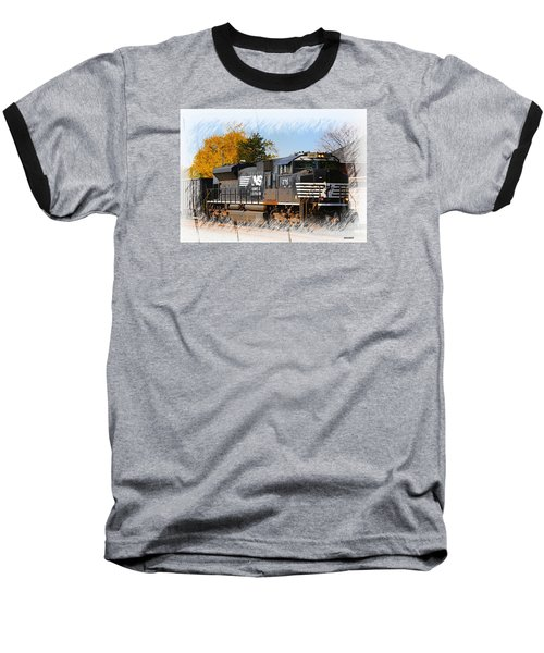 Baseball T-Shirt featuring the photograph The Norfolk Southern by Robert Pearson