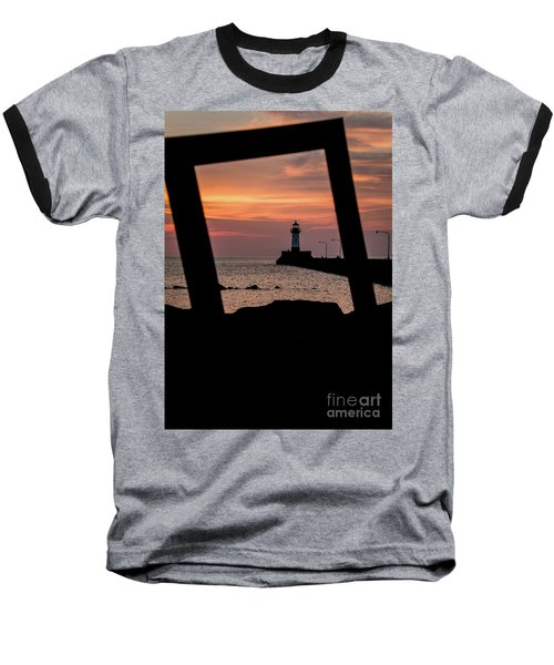The North Pier Lighthouse Baseball T-Shirt