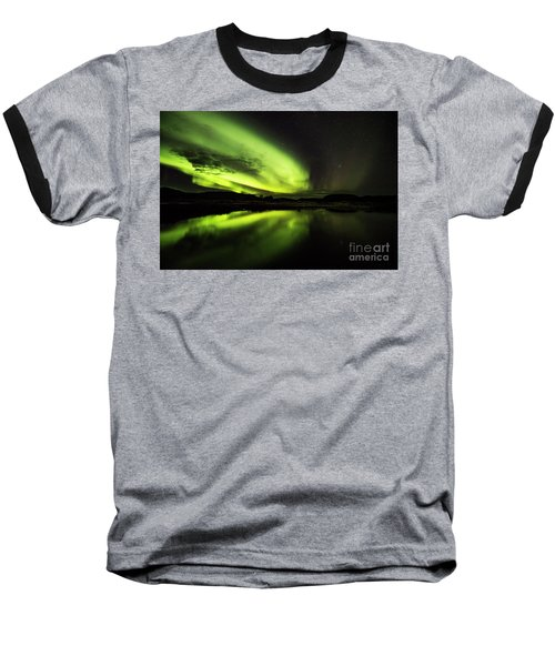 The Northern Lights Thingvellir Baseball T-Shirt