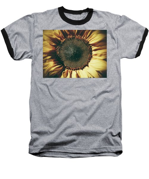 The Not So Sunny Sunflower Baseball T-Shirt by Karen Stahlros