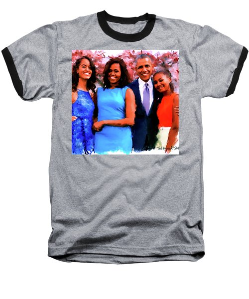 The Obama Family Baseball T-Shirt by Ted Azriel