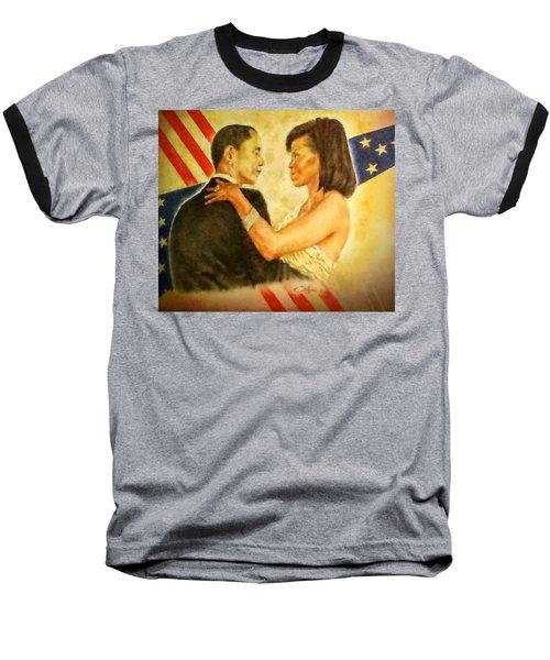 Barack And Michelle Baseball T-Shirt