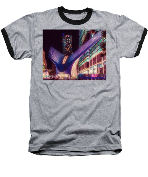 Baseball T-Shirt featuring the photograph The Occulus At Midnight by Chris Lord