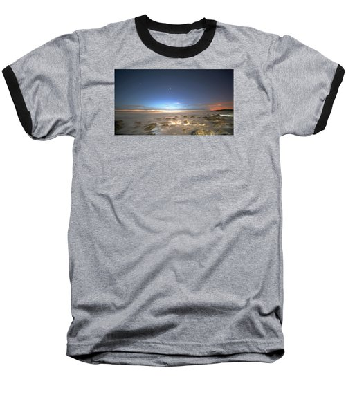 The Ocean Desert Baseball T-Shirt by Robert Och