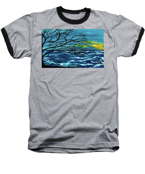 The Ocean Baseball T-Shirt by Saribelle Rodriguez