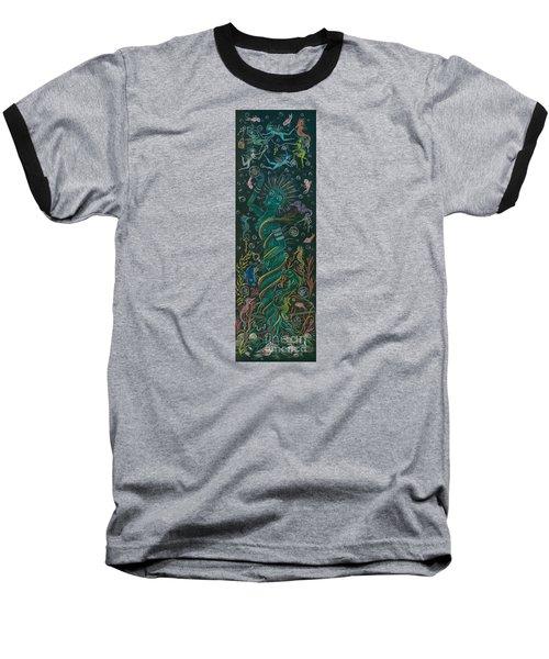 The Ocean She Baseball T-Shirt by Dawn Fairies