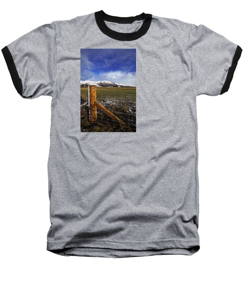 Baseball T-Shirt featuring the photograph The Ochils In Winter by Jeremy Lavender Photography