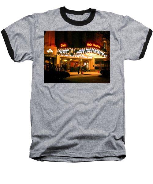 The Ohio Theater At Night Baseball T-Shirt