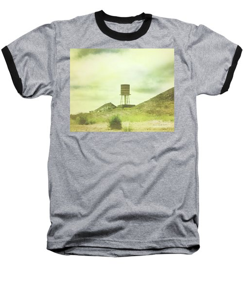 The Old Barn And Water Tower In Vintage Style San Luis Obispo California Baseball T-Shirt
