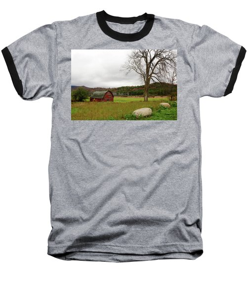 The Old Barn With Tree Baseball T-Shirt