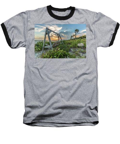 The Old Beach Swing -  Sullivan's Island, Sc Baseball T-Shirt
