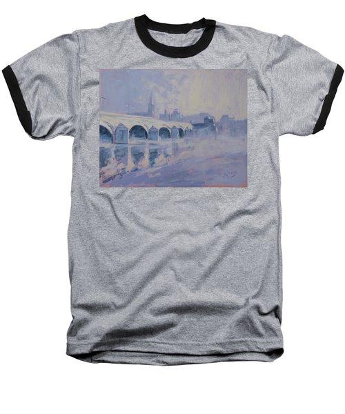 The Old Bridge In Morning Fog Maastricht Baseball T-Shirt