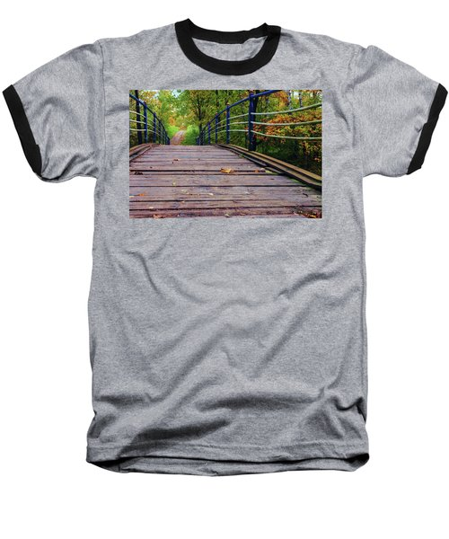 the old bridge over the river invites for a leisurely stroll in the autumn Park Baseball T-Shirt