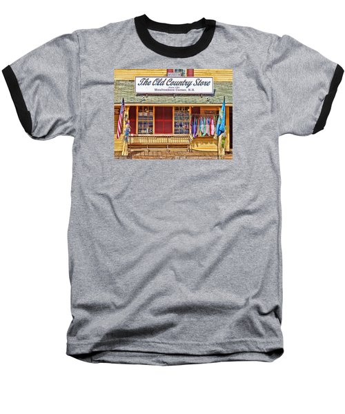Baseball T-Shirt featuring the photograph The Old Country Store, Moultonborough by Nancy De Flon