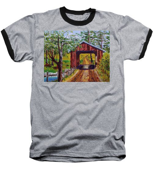 The Old Covered Bridge Baseball T-Shirt