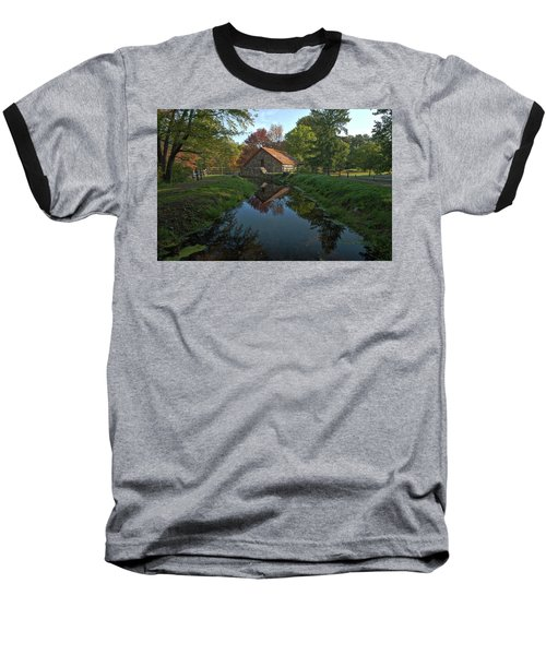 Baseball T-Shirt featuring the photograph The Old Mill by Stephen Flint