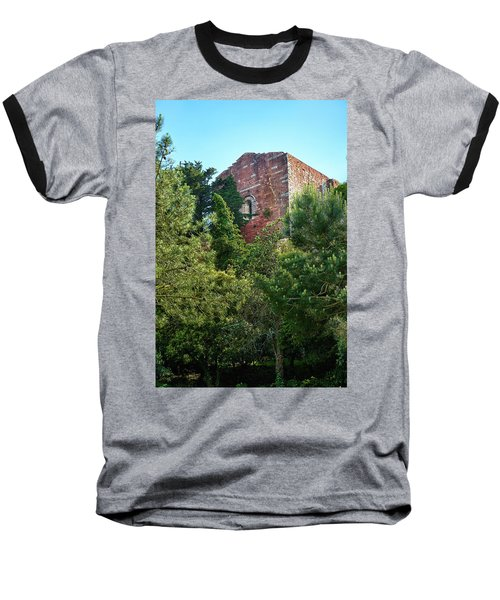 The Old Monastery Of Escornalbou Surrounded By Trees In Spain Baseball T-Shirt