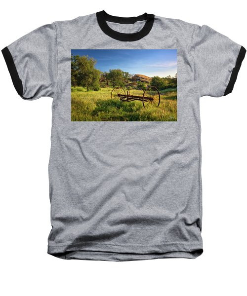 The Old Mower 1 Baseball T-Shirt by Endre Balogh