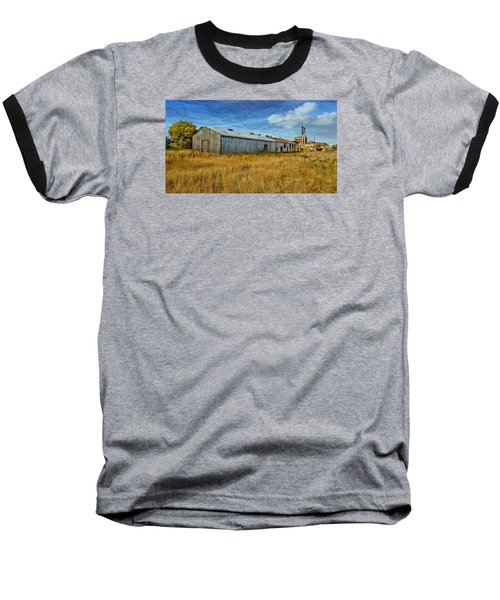 Baseball T-Shirt featuring the photograph The Old Peters Factory 01 by Kevin Chippindall