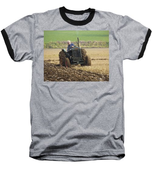 The Old Ploughman Baseball T-Shirt by Roy McPeak