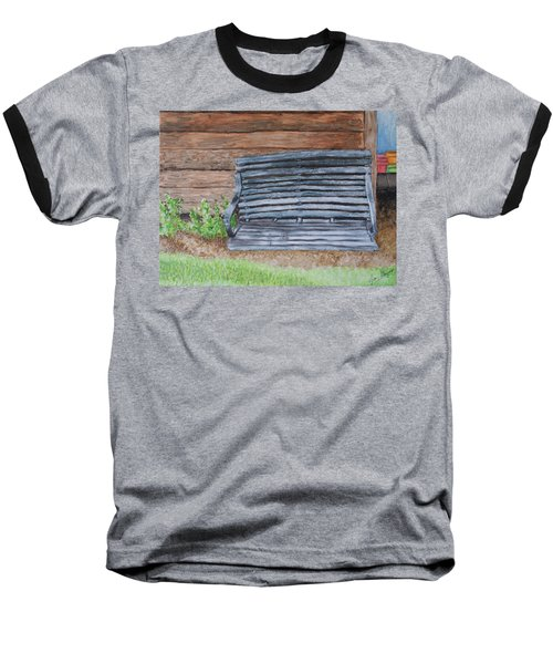 The Old Porch Swing Baseball T-Shirt by Jean Haynes
