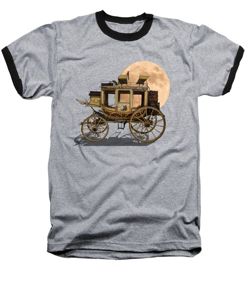 The Old Stage Coach Baseball T-Shirt by John Haldane