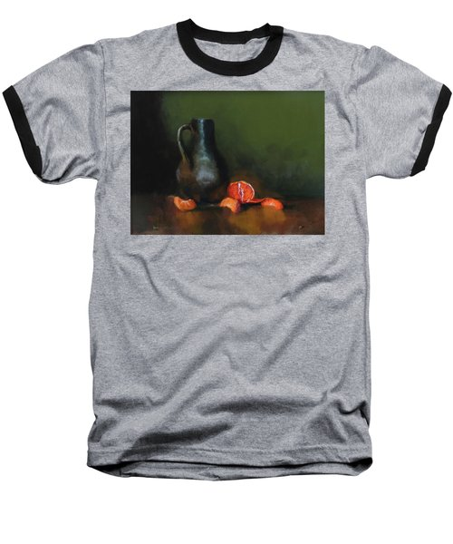 Baseball T-Shirt featuring the painting The Old Stoneware Mug by Barry Williamson