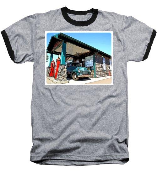The Old Texaco Station Baseball T-Shirt by Steve McKinzie