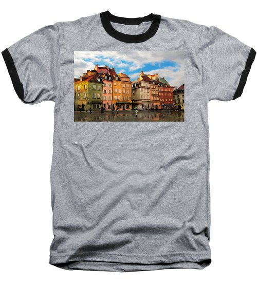 Old Town In Warsaw # 23 Baseball T-Shirt