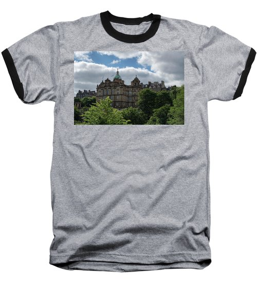 Baseball T-Shirt featuring the photograph The Old Town In Edinburgh by Jeremy Lavender Photography
